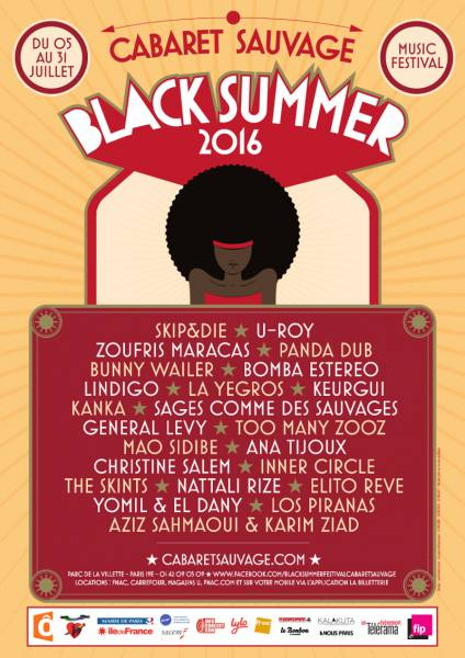 [75] - BLACK SUMMER FESTIVAL 2016 - U ROY + NATTALI RIZE + THE SKINTS