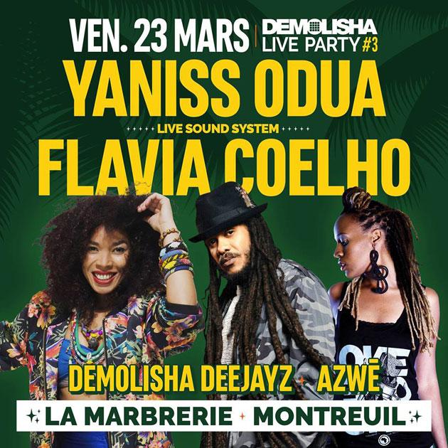 [93] - DEMOLISHA LIVE PARTY 3 - YANISS ODUA + FLAVIA COELHO (LIVE) + AZWÈ + DEMOLISHA DJ'S