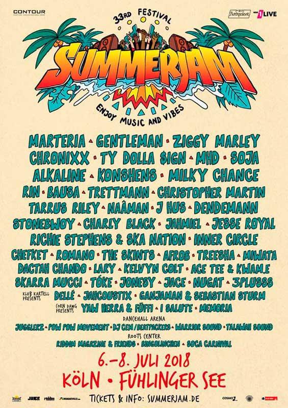 [DE] - 33RD SUMMERJAM FESTIVAL 2018
