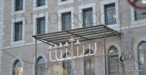 Hanukkah candles in Jerusalem