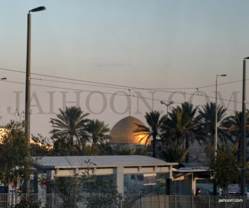 Quds seen from Jerusalem roads