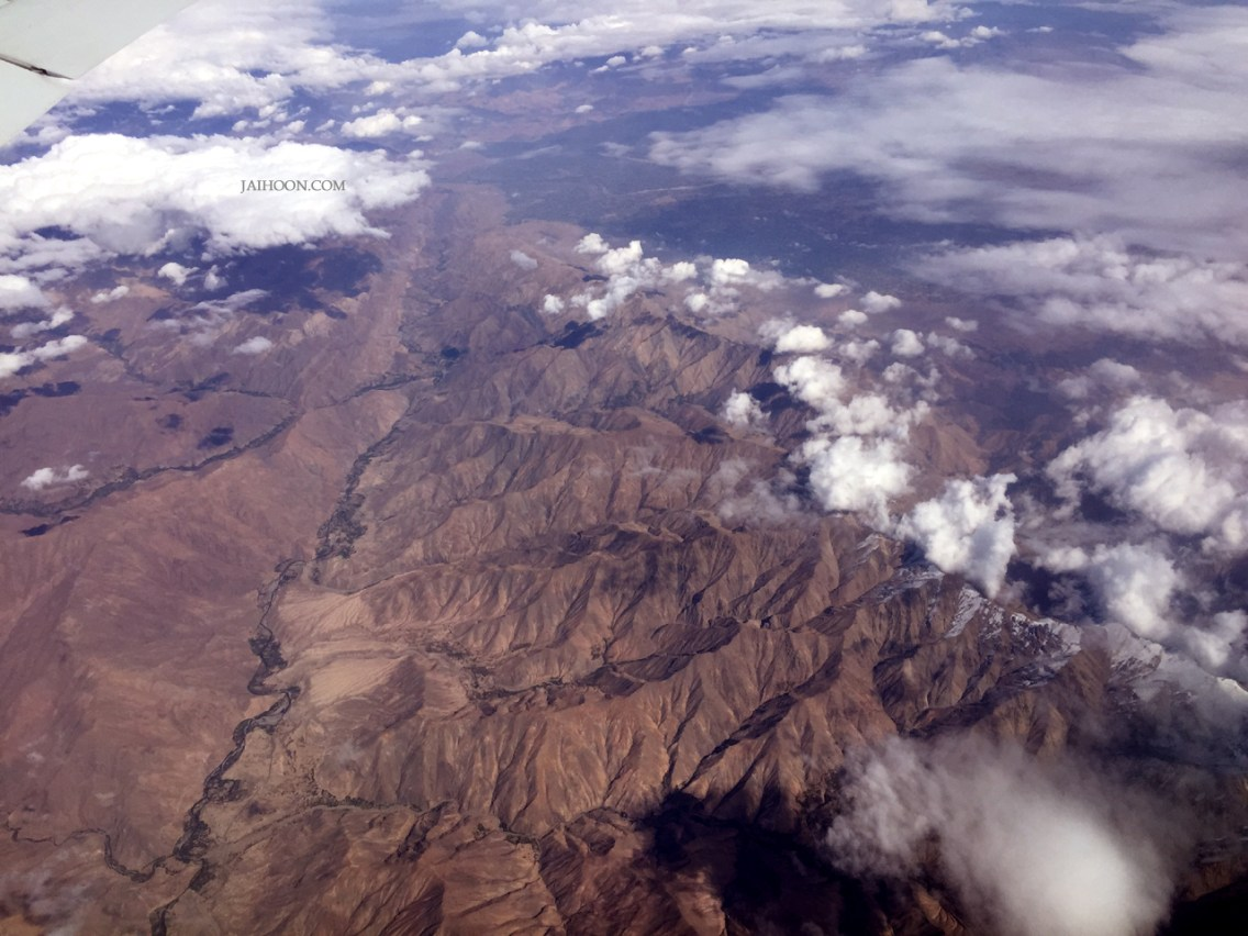 View from Uzbek skies