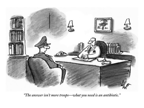 frank-cotham-the-answer-isn-t-more-troops-what-you-need-is-an-antibiotic-new-yorker-cartoon