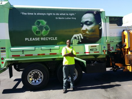 driving a garbage truck