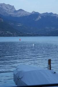 Barque et lac d'Annecy