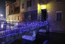 Illuminations d'hiver en vieille ville