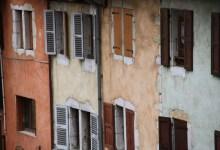 facades de la vieille ville