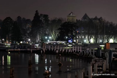 hiver rigoureux à Annecy