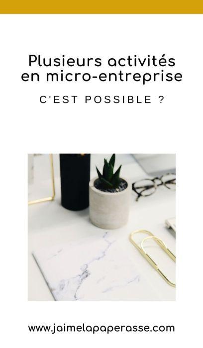Est-ce possible de cumuler des activités différentes en tant qu'autoentrepreneur ? d'avoir plusieurs micro-entreprises ? Les réponses dans cet article de J'aime la paperasse. #entrepreneuriat #administratif