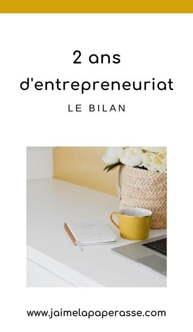 Bilan après 2 ans d'entrepreneuriat : succès, ratés, chiffres, ressentis... Les coulisses de mon entreprise dans cet article de J'aime la paperasse #business