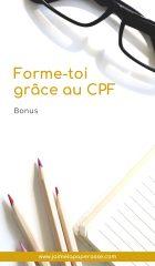 Forme-toi grâce au CPF - Bonus offert par J'aime la paperasse