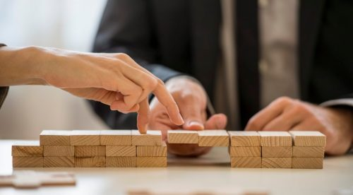Business teamwork and cooperation concept