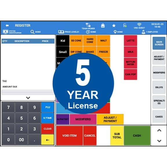Sam4POS Android Software - 5 Year License| JaimePOS A Leading POS & Merchant Services Provider