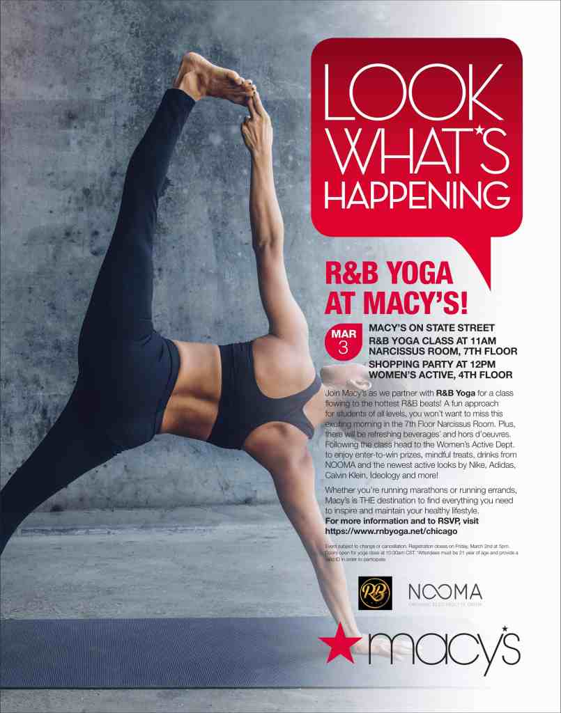 Macy's Yoga Event March 3