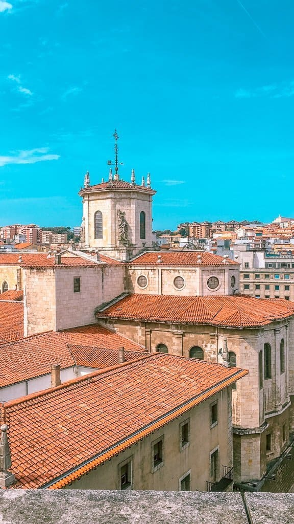 the Rooftops of Santander, the largest city of Cantabria.