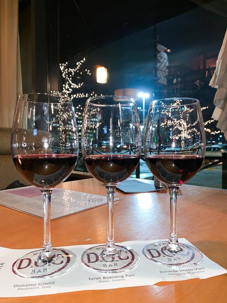 Wine Tasting Experience of a Red Flight at DOC Wine Bar