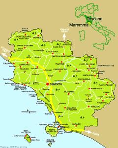 Map of Maremma Toscana