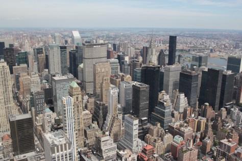 Vista del Edificio Chrysler desde el Empire State, Nueva York 2011