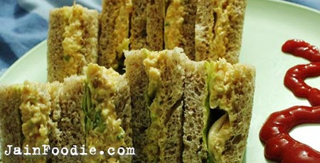 Jain Russian Salad Sandwich