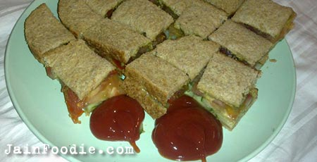 Jain Vegetable Sandwich