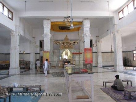 Main temple - Sri Digambar Jain temple at Ranila.