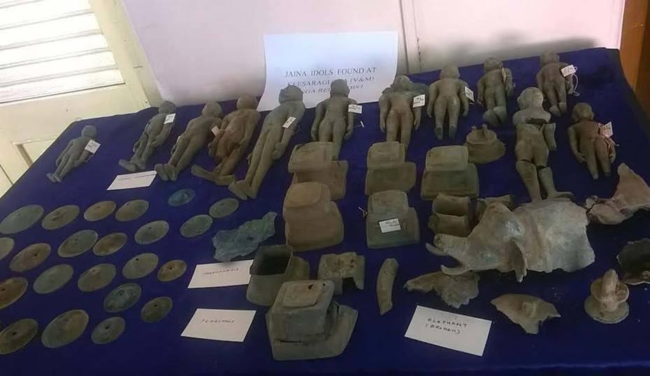 Jain Tirthankaras idols belonging to 4th Century Unearthed at Keesaragutta