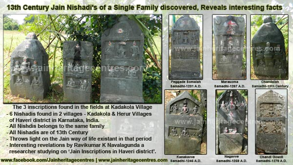 13th Century Jain Nishadi's of a Single family discovered, Reveals interesting facts