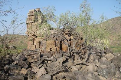 12th Century's ruined Ancient Jain temple at Juna, Barmer District, Rajasthan.