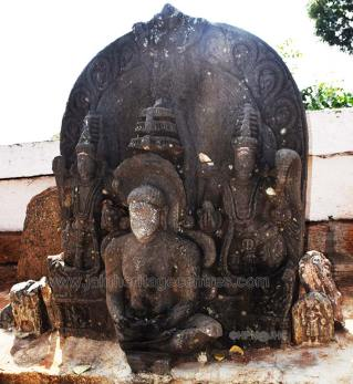 Idol of Lord Parshwanath in padmasana. - Photo by HPN@JHC