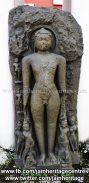 Ruined Tirthankar idol in kayotsarga - Jain Museum