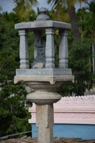 Manastambha in front of Parshwanath Temple