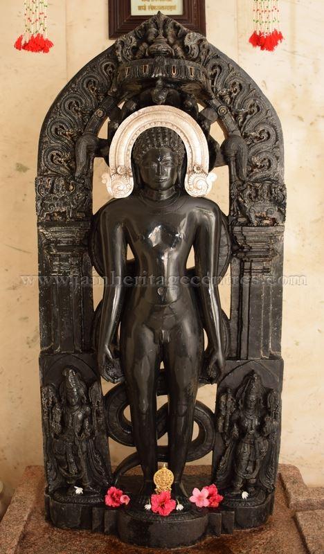 Main deity Lord Parshwanath in Kayotsarga / Standing posture.