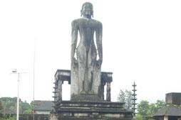 Bahubali Swami idol at Venur.