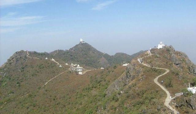 A view of Jain Pilgrim site, Sammedha Shikarji, Jharkhand.