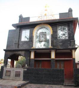 front view of Suvarna Parshwanath Swamy Digambar Jain temple at Rajarajeshwarinagar, Bengaluru.