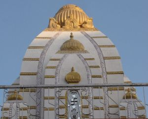 Pinnacle / Gopura of Suvarna Parshwanath Swamy Digambar Jain temple at Rajarajeshwarinagar, Bengaluru.