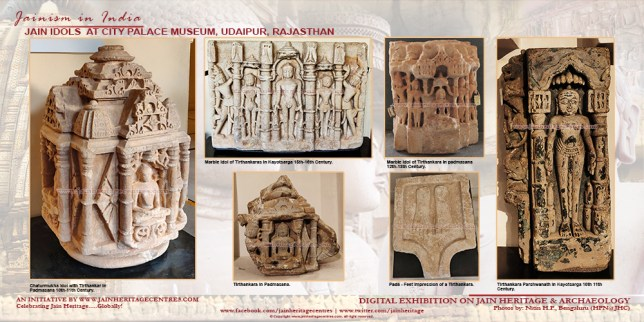 Jain idols at City Palace Museum, Udaipur, Rajasthan.