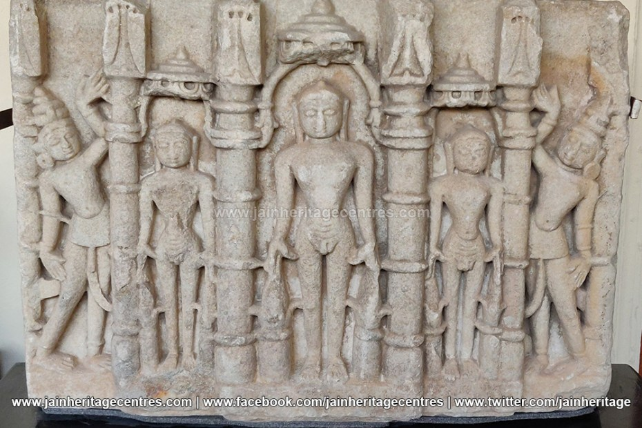 Marble Idol of Jain Tirthankaras in Kayotsarga 15th-16th century.