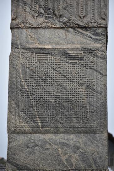 Artistic Carvings, Manastambha at Karkala, Udupi District, Karnataka.