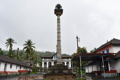 Manastambha at Karkala, Udupi District, Karnataka.