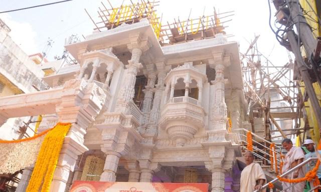 Sri Shambhavanath Swethambar Jain Temple. Vijayawada, Andhra Pradesh..
