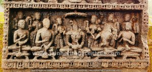 Bottom Panel of the attractive Sallekhana Memorial of a Jain Queen at Hombuja.