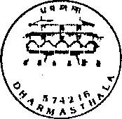 Dharamasthala (Karnataka)574216 Jain Pilgrimage Place (From 02-01-89)