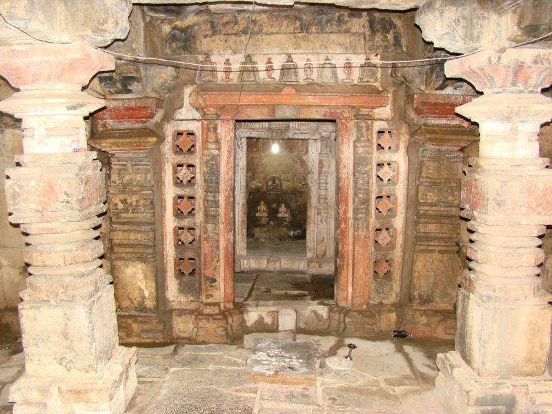 Interiors of the Digabmar Jain temple at Idarguchi.