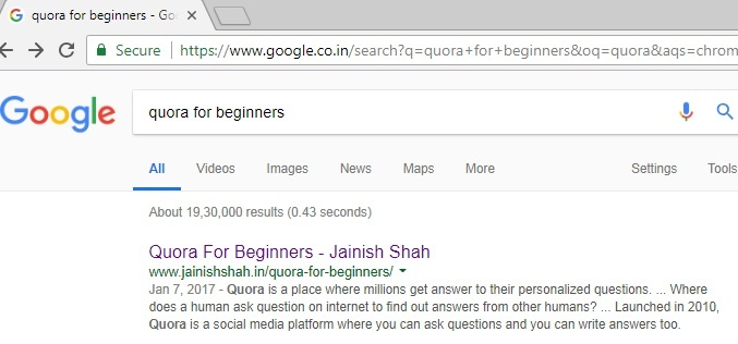 title tag in search engine results page (SERP)