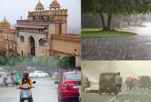 Weather report: Heavy rains and hailstorm lash in Jaipur