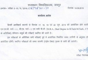 rajasthan university exams postponed