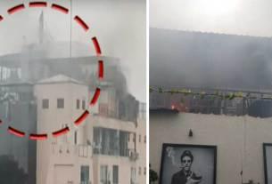blast in rooftop restaurant of jaipur