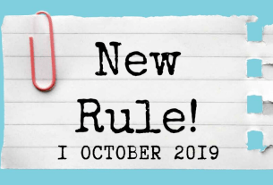 new rules changes from 1 october