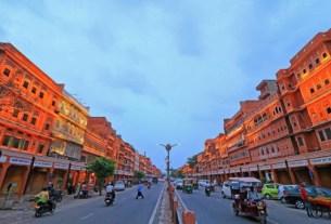 Walled city market jaipur